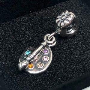 Retired! PANDORA Artist's Palette Dangle Charm